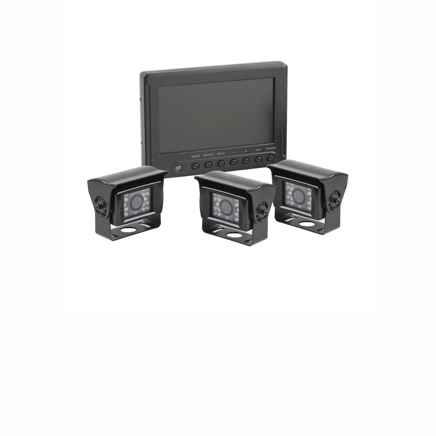7.0inch HD Weatherproof Quad View Three Camera Kit