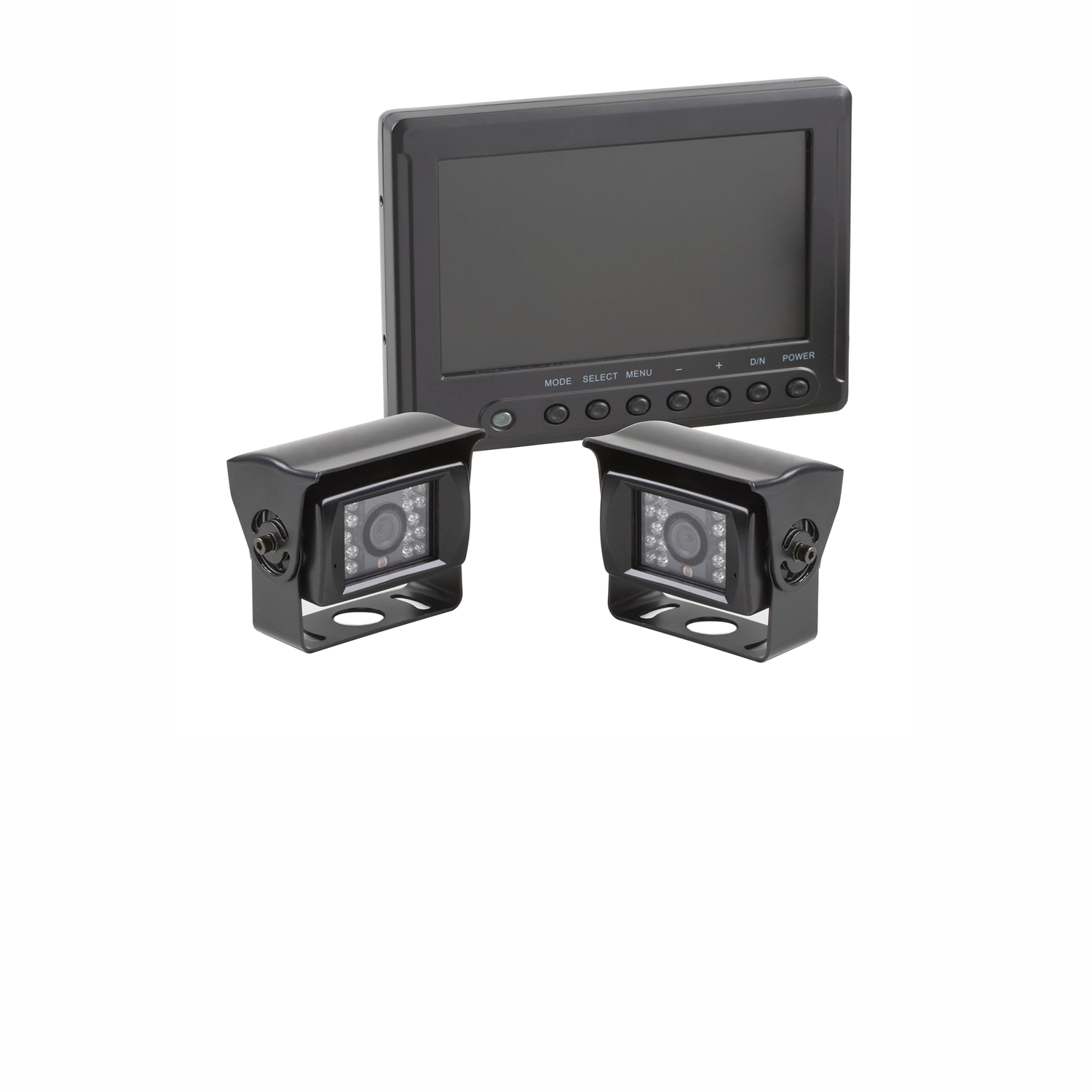 7.0inch HD Weatherproof Quad View Two Camera