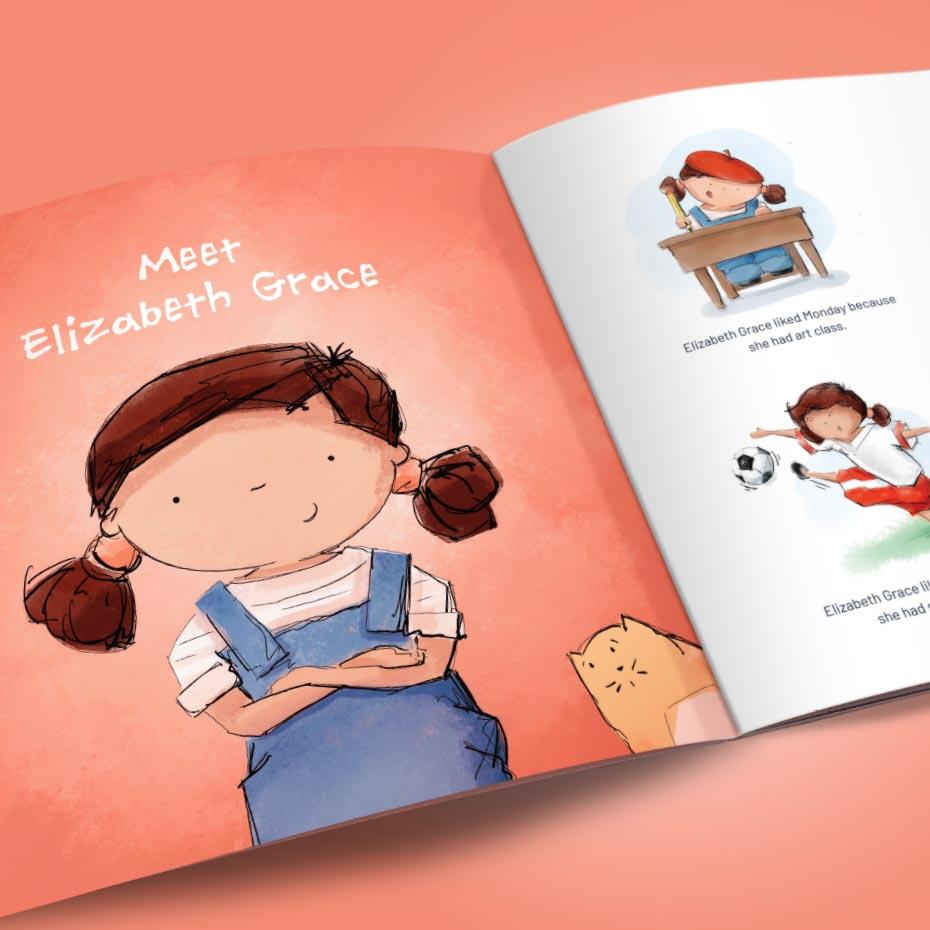 'Elizabeth Grace' Illustrated Children's Book - Sample Pages