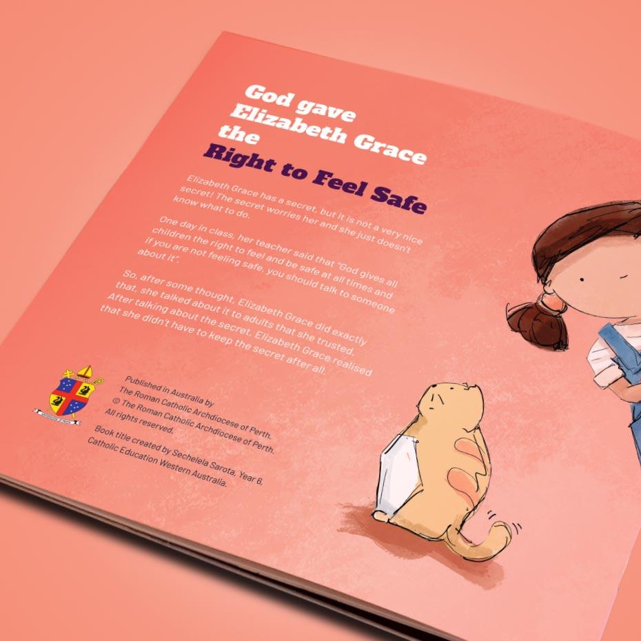 'Elizabeth Grace' Illustrated Children's Book - Back Cover
