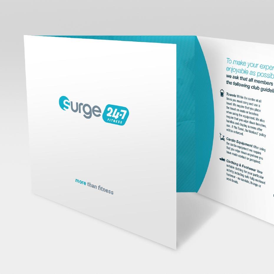 Brochure Design for Surge Fitness