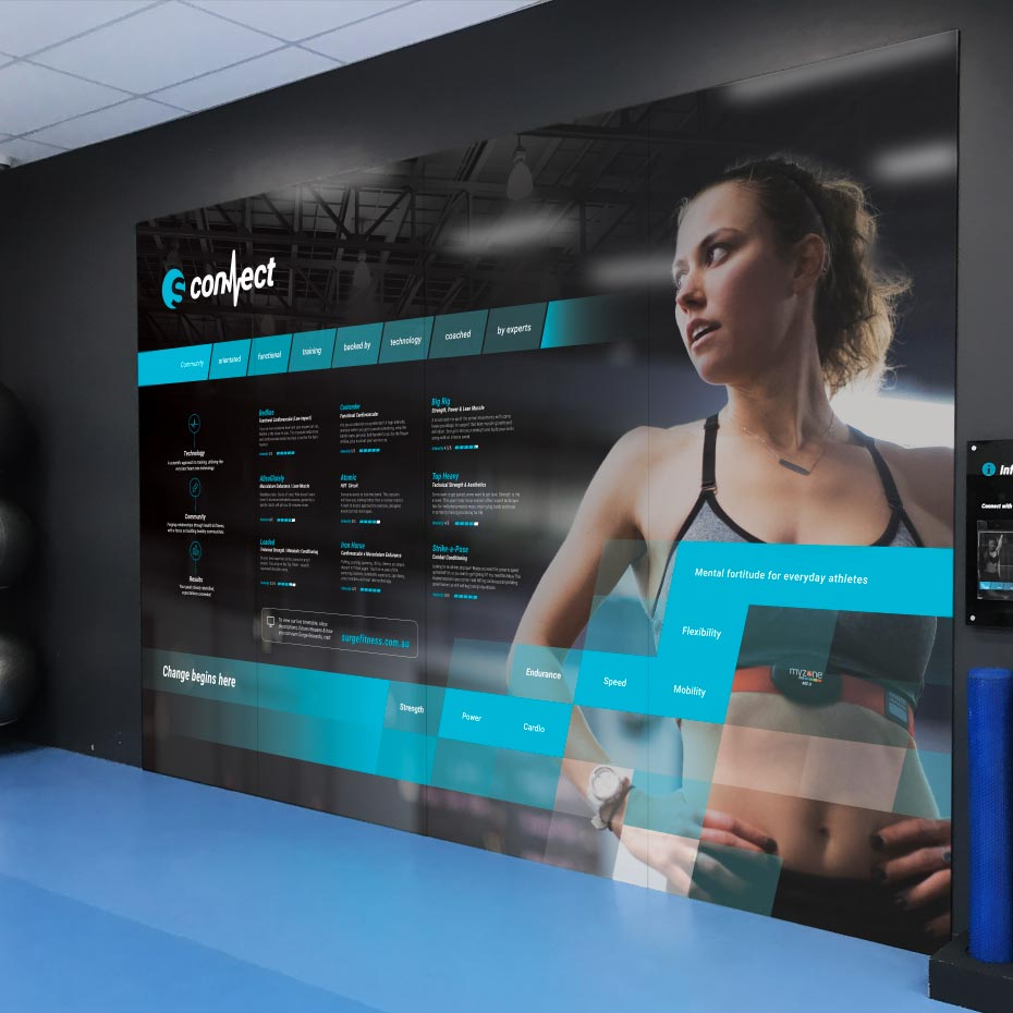 Brand Design Project for Surge Fitness - 'Connect' Wall Print