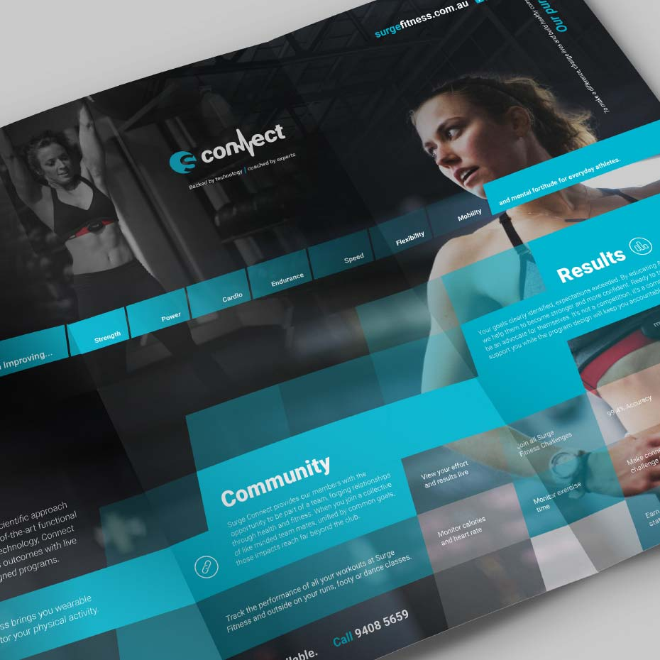 Brand Design Project for Surge Fitness - 'Connect' Branding