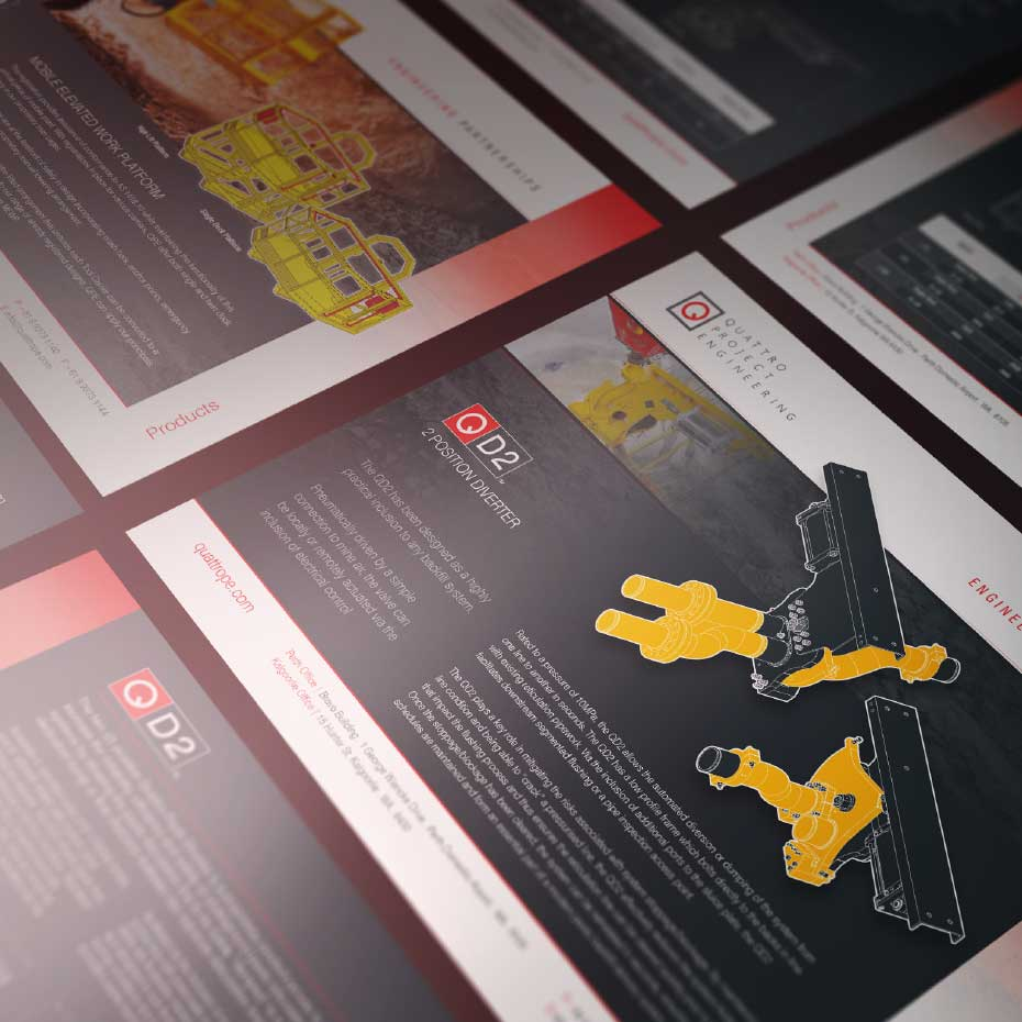 Brand Design Project for Quattro - Product Flyers