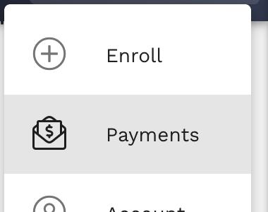 Payments Navigation Menu Item