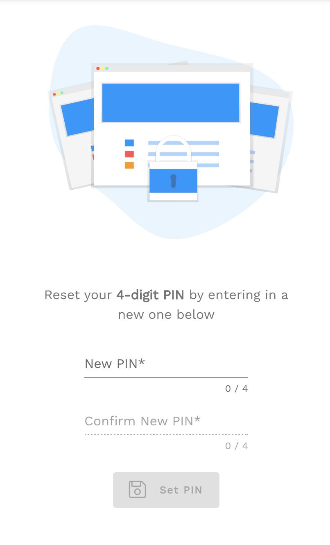 Reset PINPage