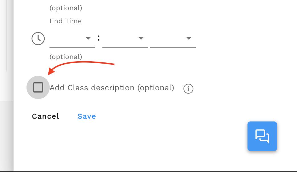 "Click ""Add Class description"""