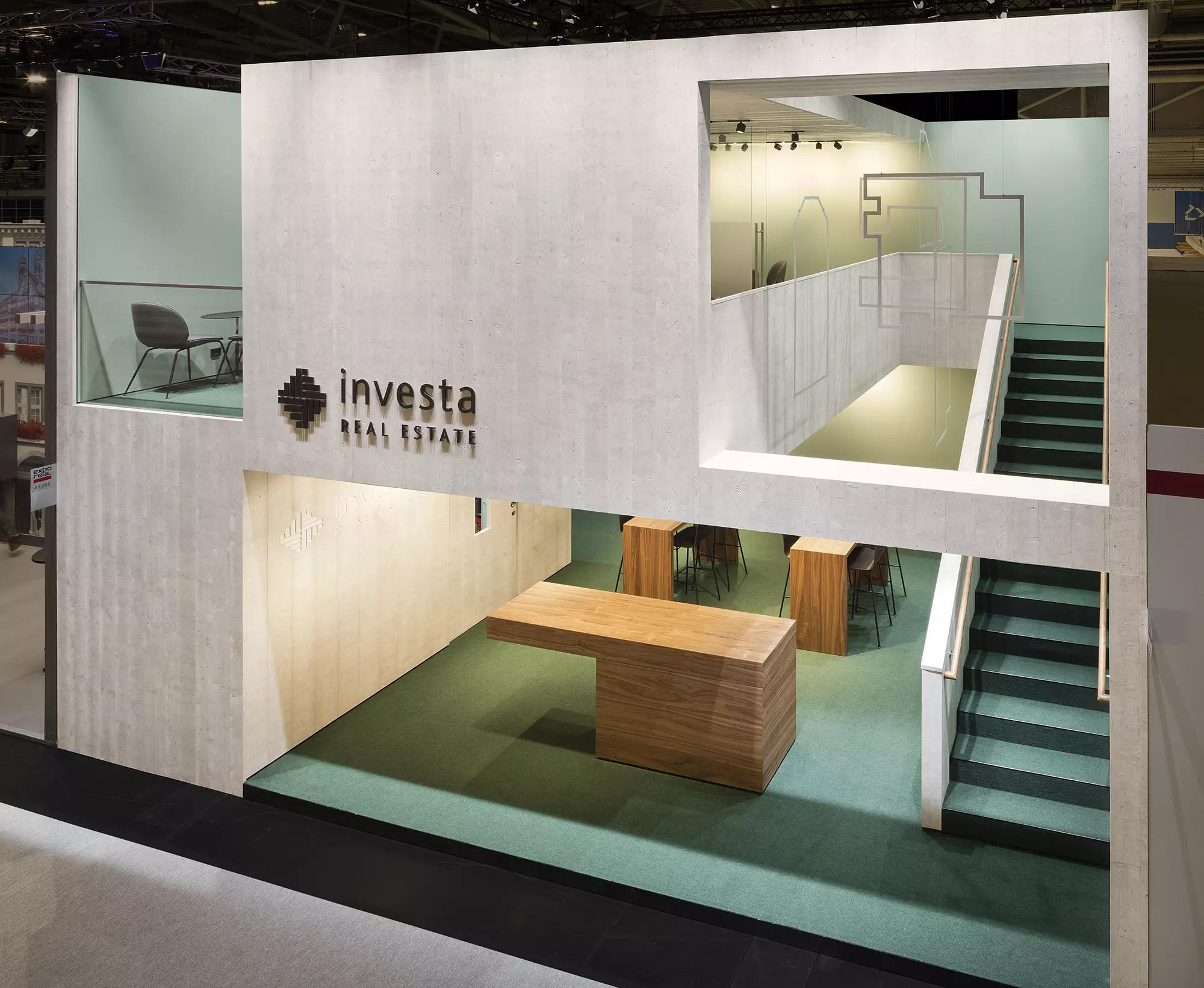 Built excellence as a corporate architecture statement for Investa at Expo Real 2017