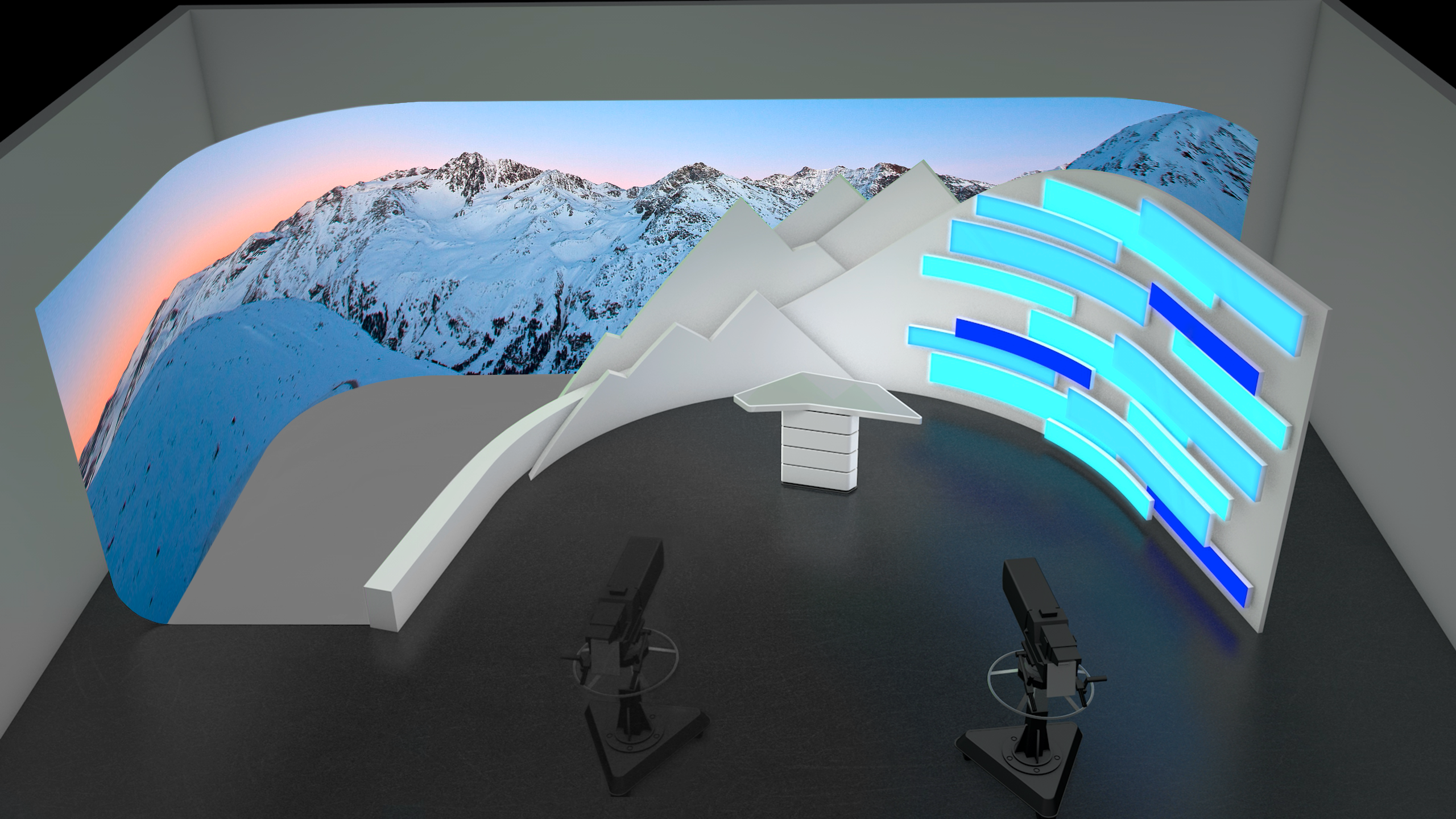 Modular studio design for live TV formats