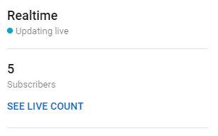 abonnés en temps réel Youtube