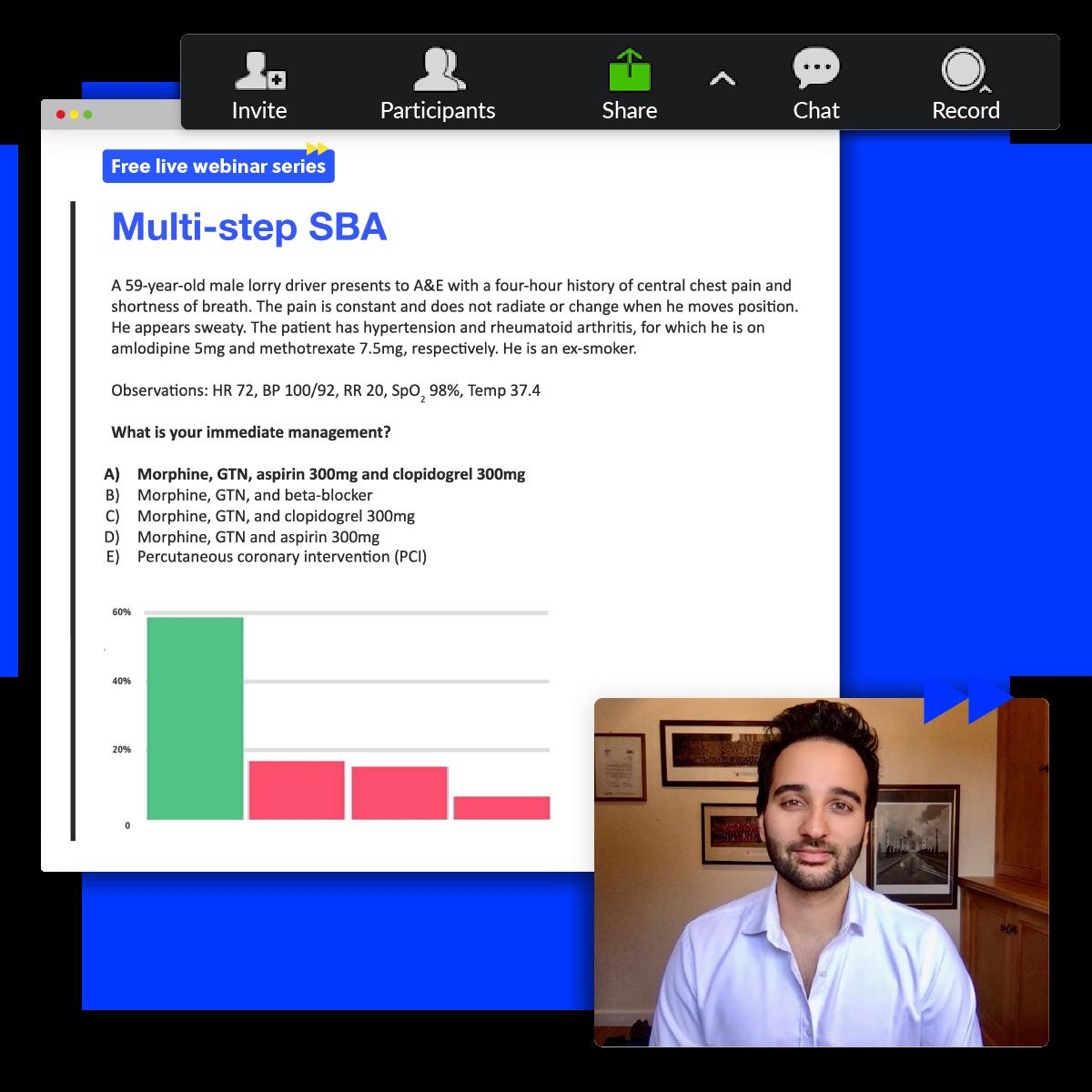 Live Webinars User Interface and Presenter Shown