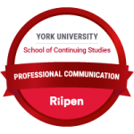 York University Professional Communication badge