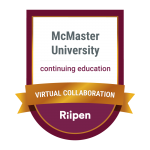 McMaster University Virtual Collaboration badge