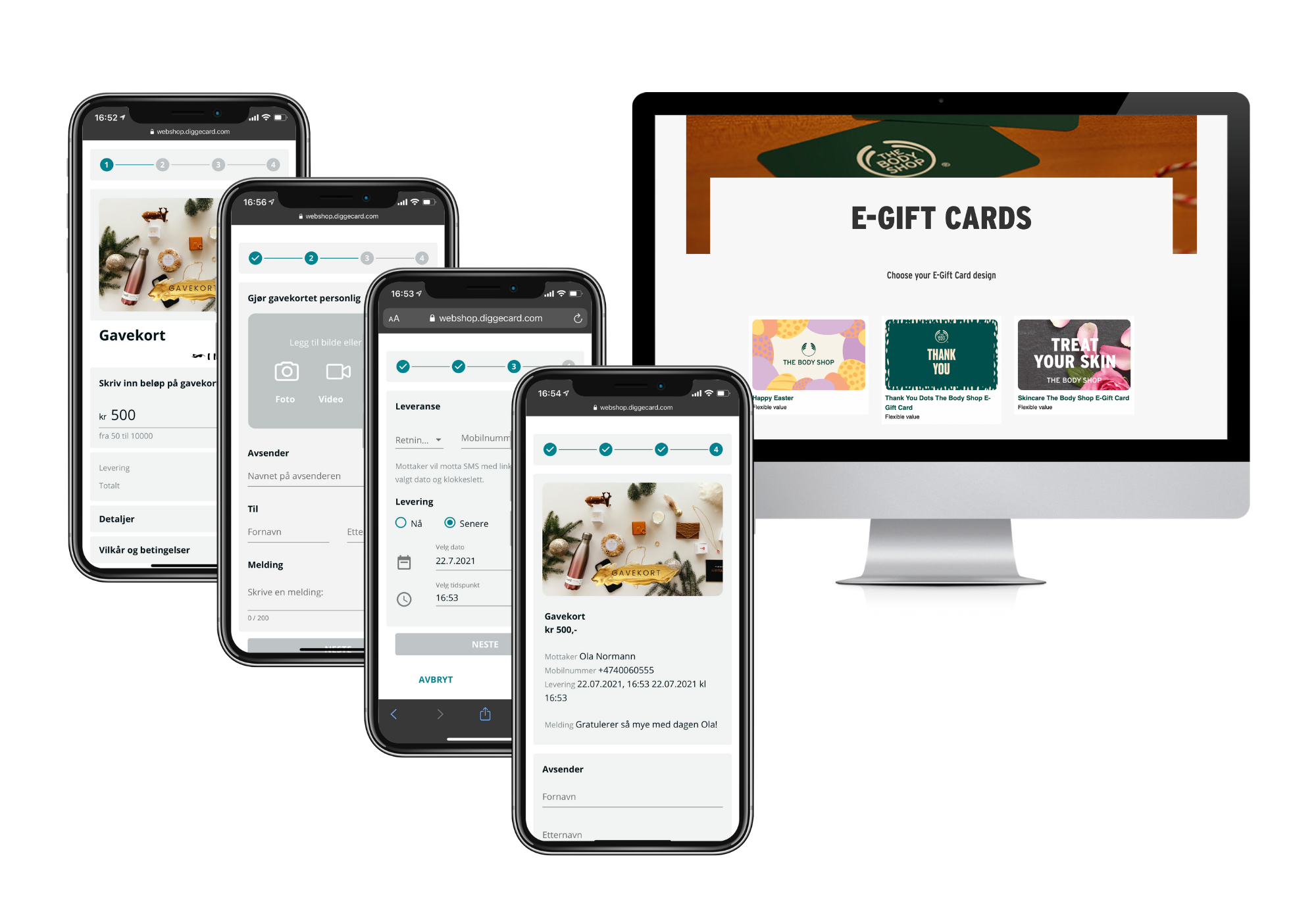 Illustration of gift cards