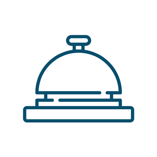 Icon of a call bell which represents a hotelier.