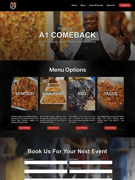 A1 Comeback website Powered by I2I