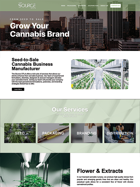 The Source DTLA website Powered by I2I