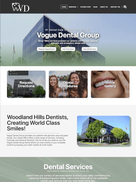Vogue Dental website Powered by I2I