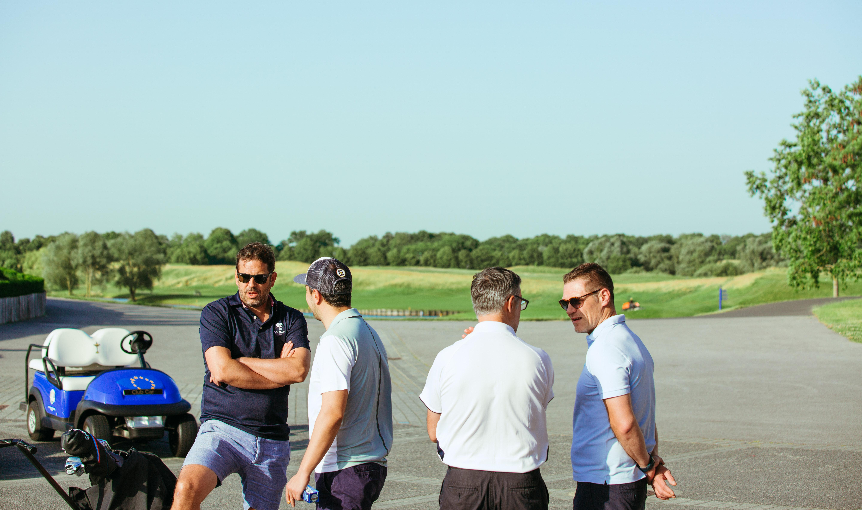 Les équipes S4M organisant la compétition au Golf National