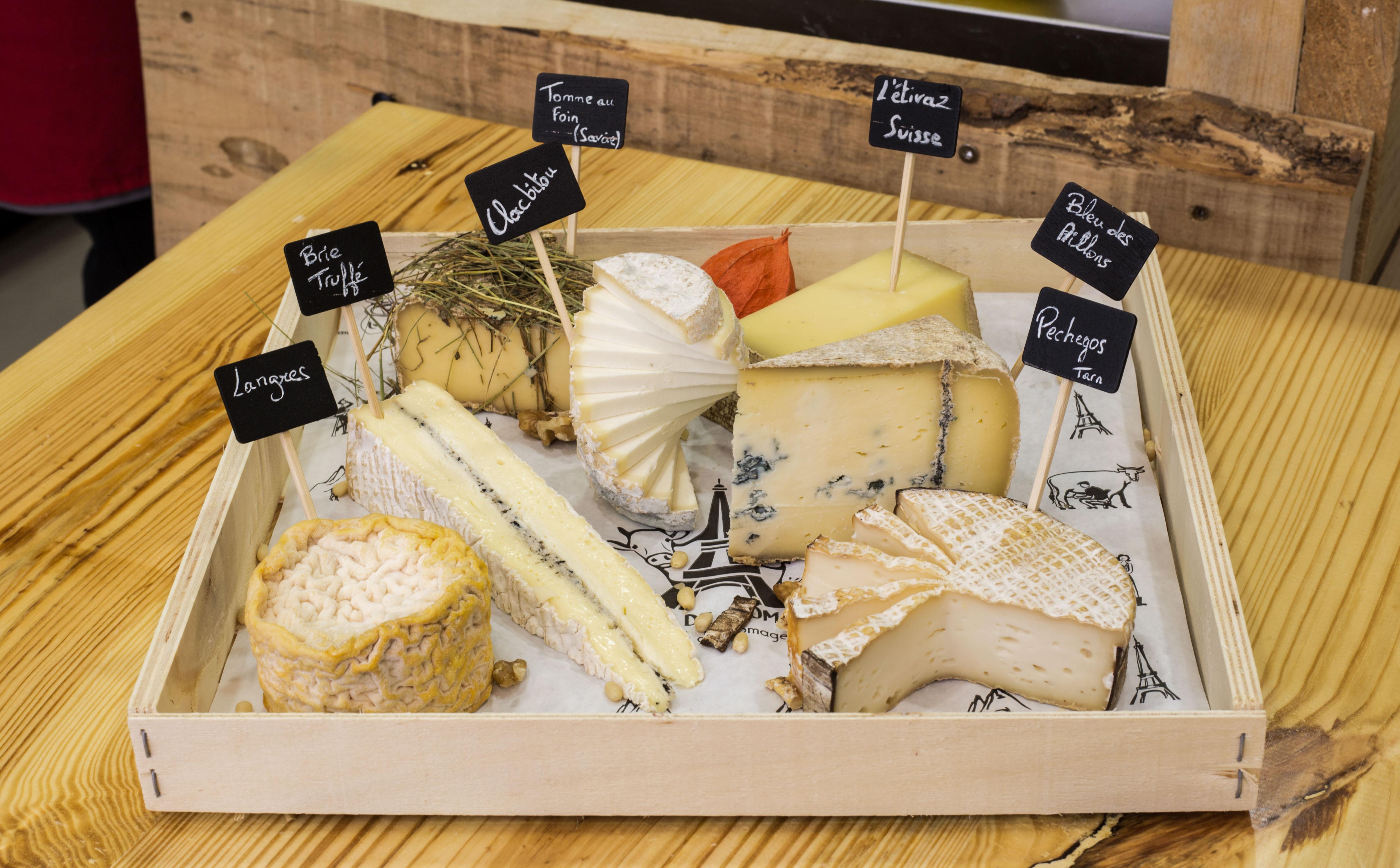 Plateau de dégustation de fromages chez Paroles de Fromagers