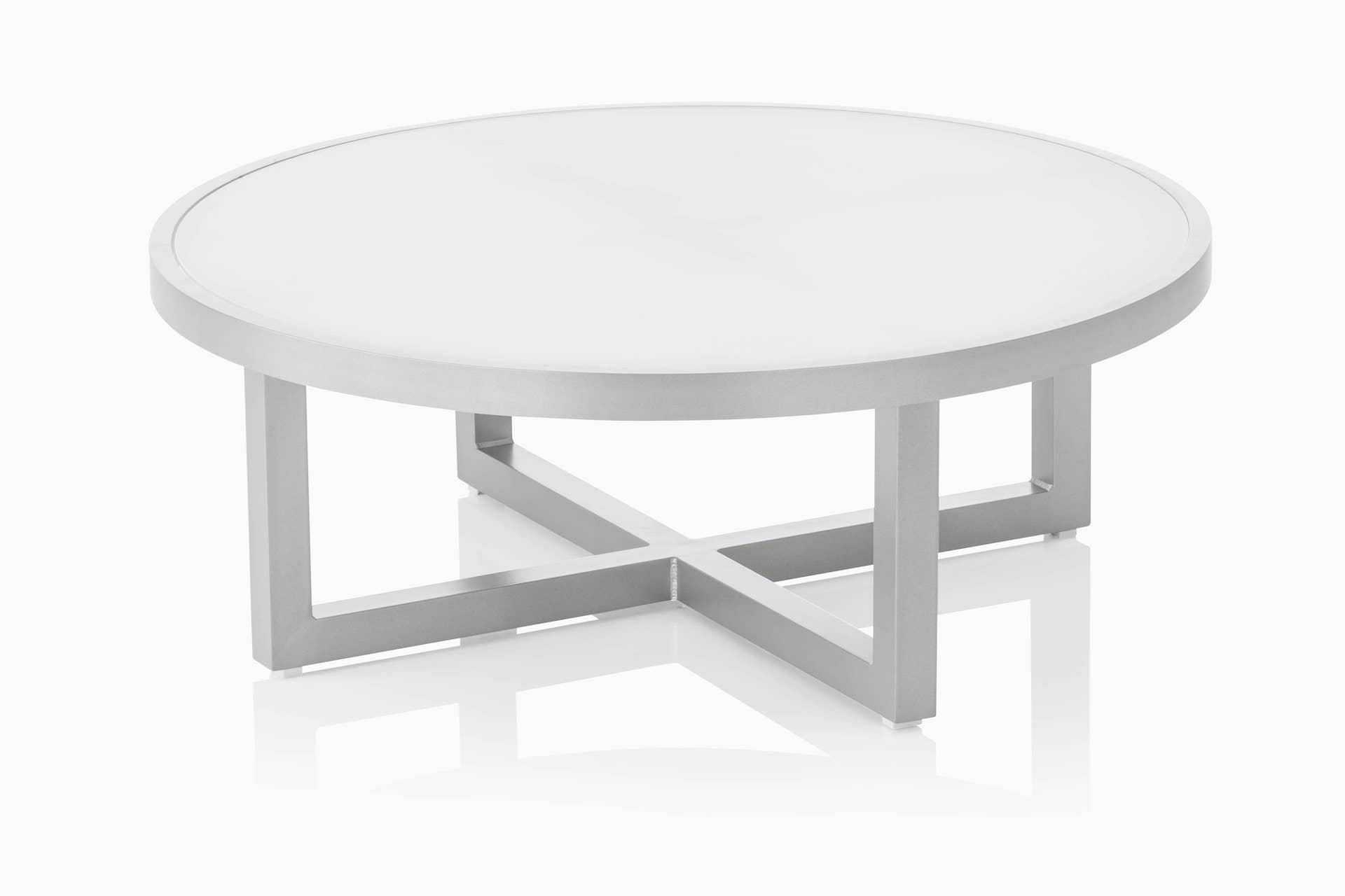 EGO Lounge Tisch 92cm inkl. 5mm Glasplatte