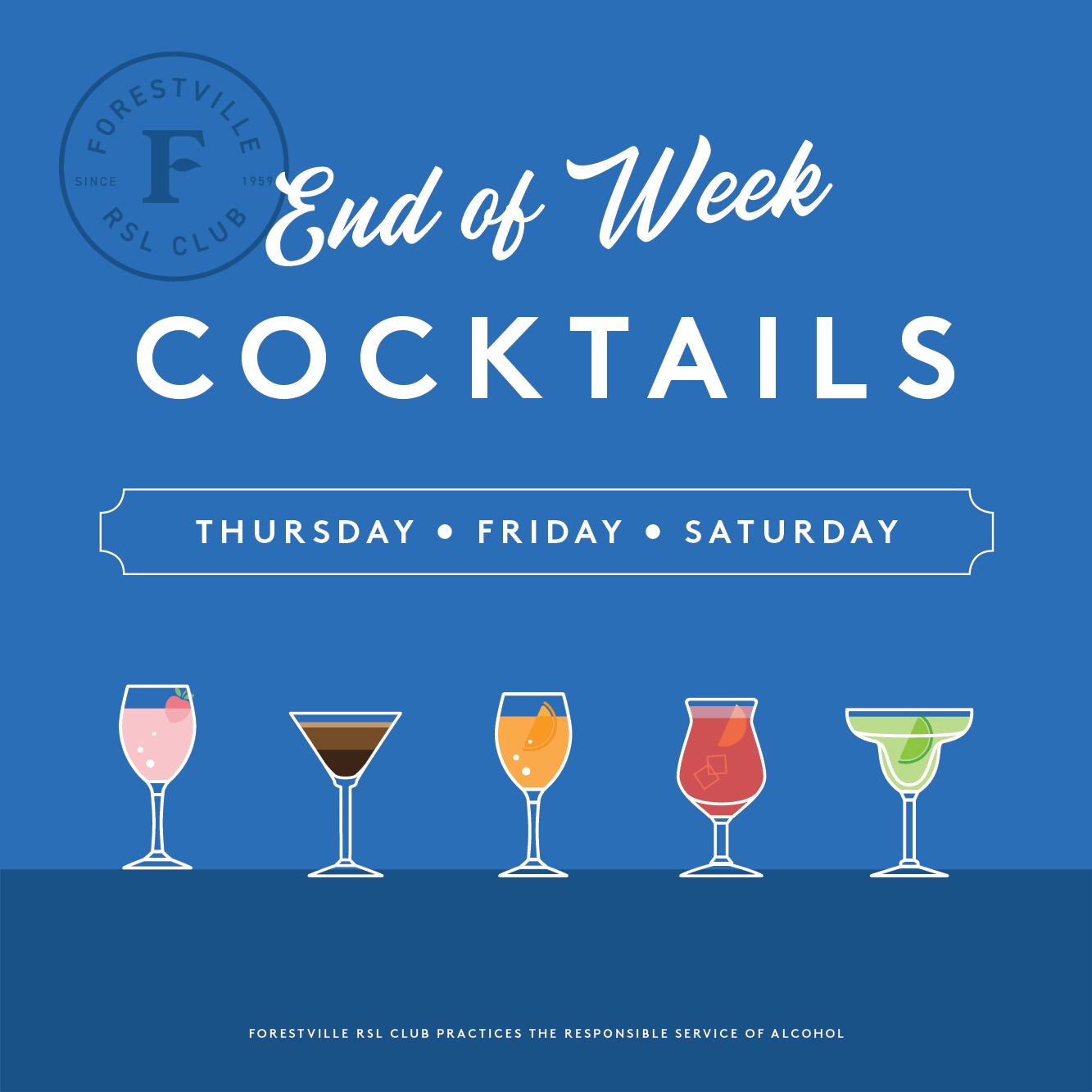 End of Week  Cocktails