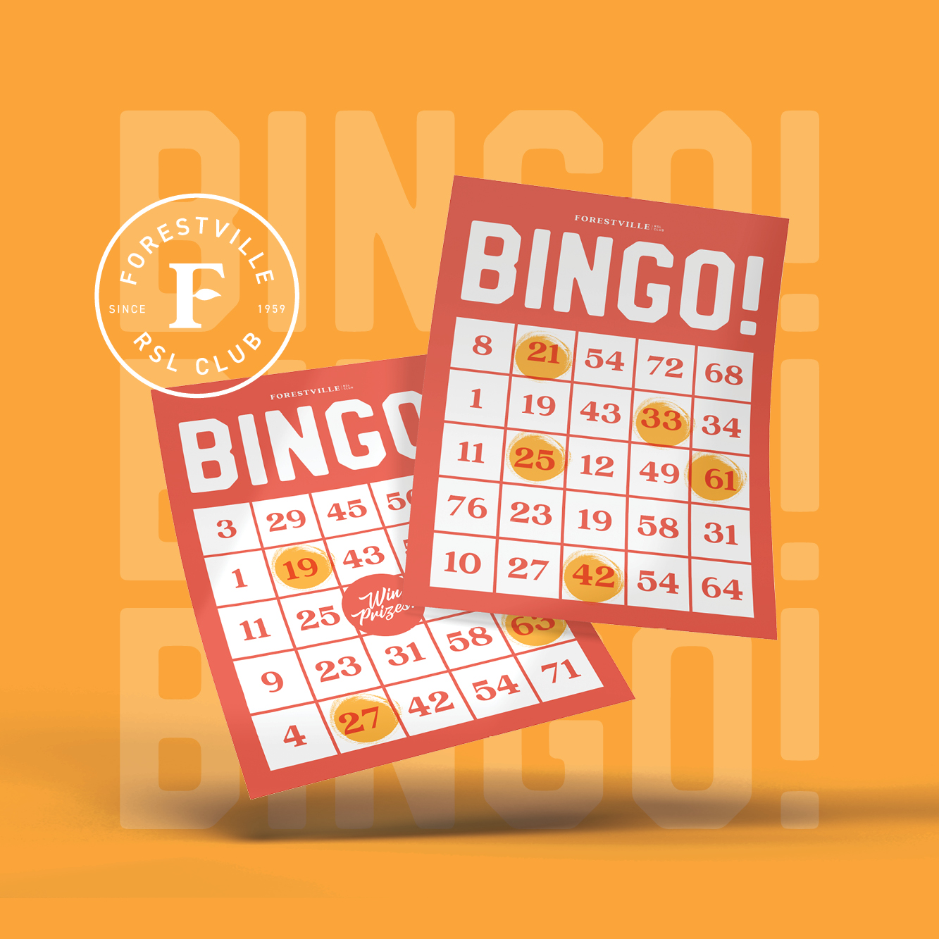 """Will you be the one to call """"BINGO!""""? Play three times a week at Forestville RSLClub."""