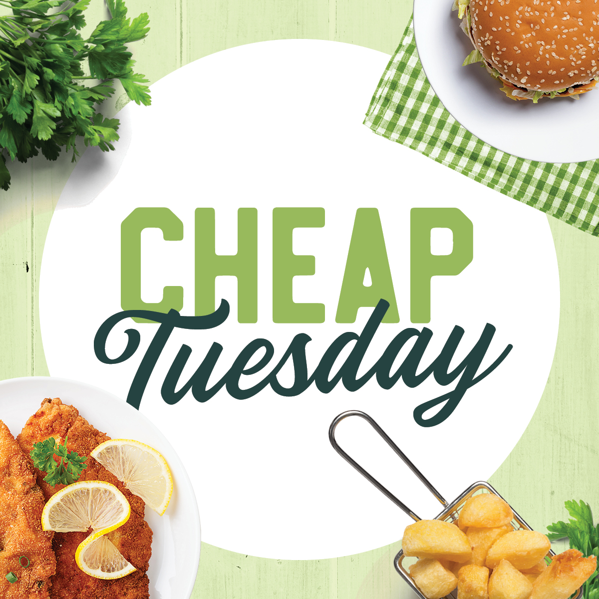 Every Tuesday night enjoy your Club favourites for just $14.90!