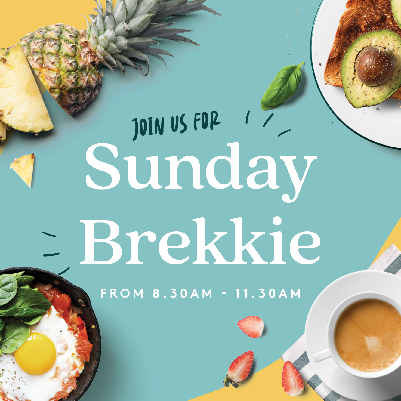 Sunday breakfast is back at Forestville RSLClub! 8.30am - 11.30am every Sunday.