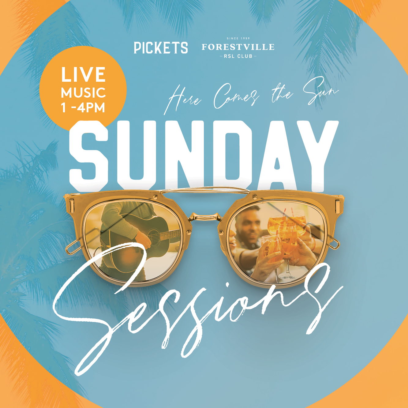 Live music is back at Forestville RSLClub! Who doesn't love a Sunday Session in the Sun?