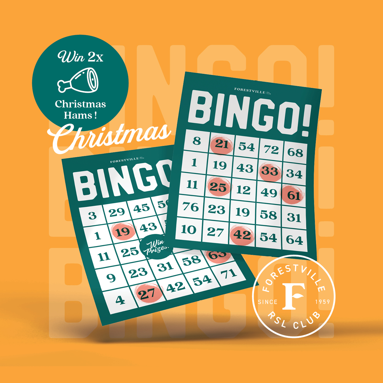 Join us for Bingo this December where we will be adding some Christmas cheer!