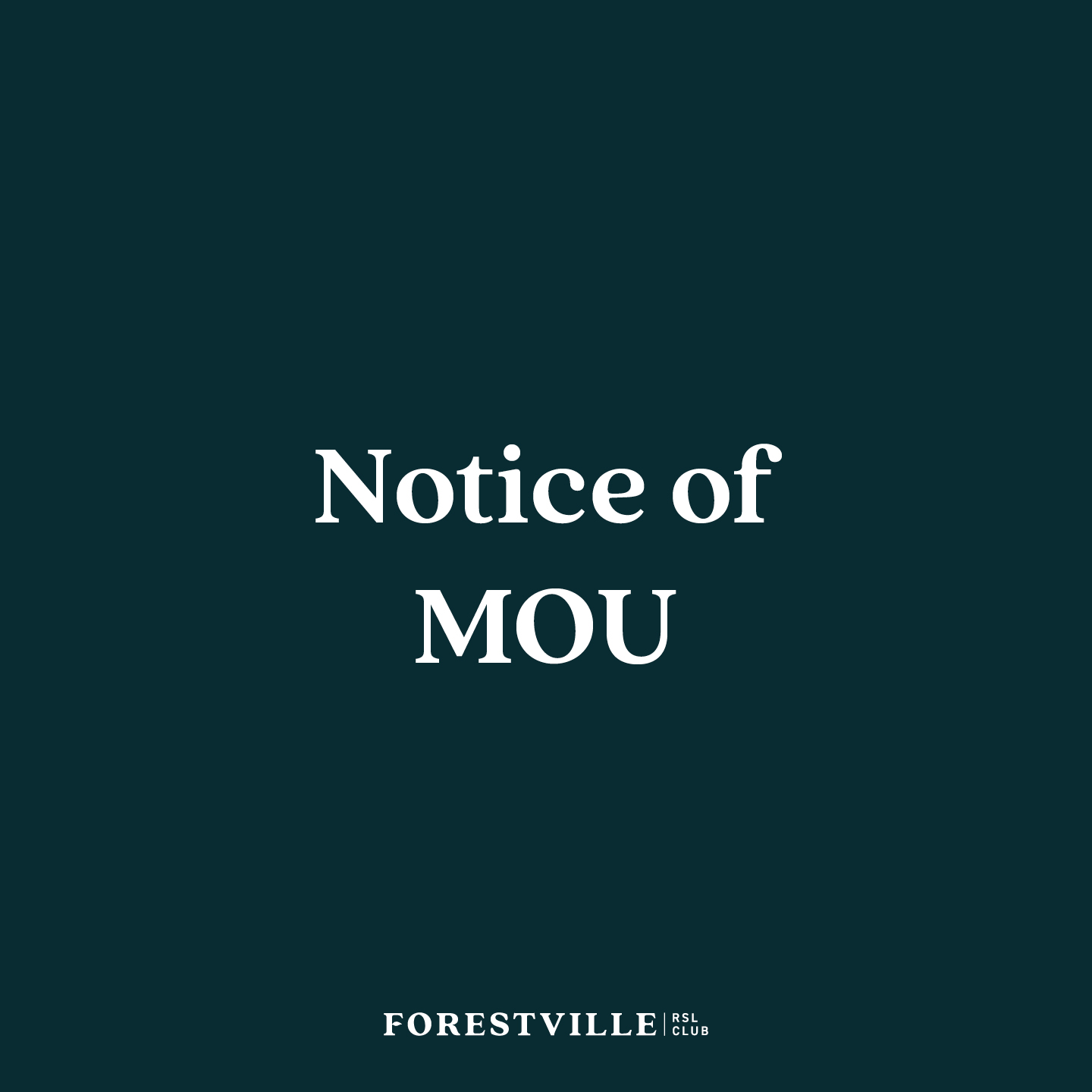 Notice of MOU