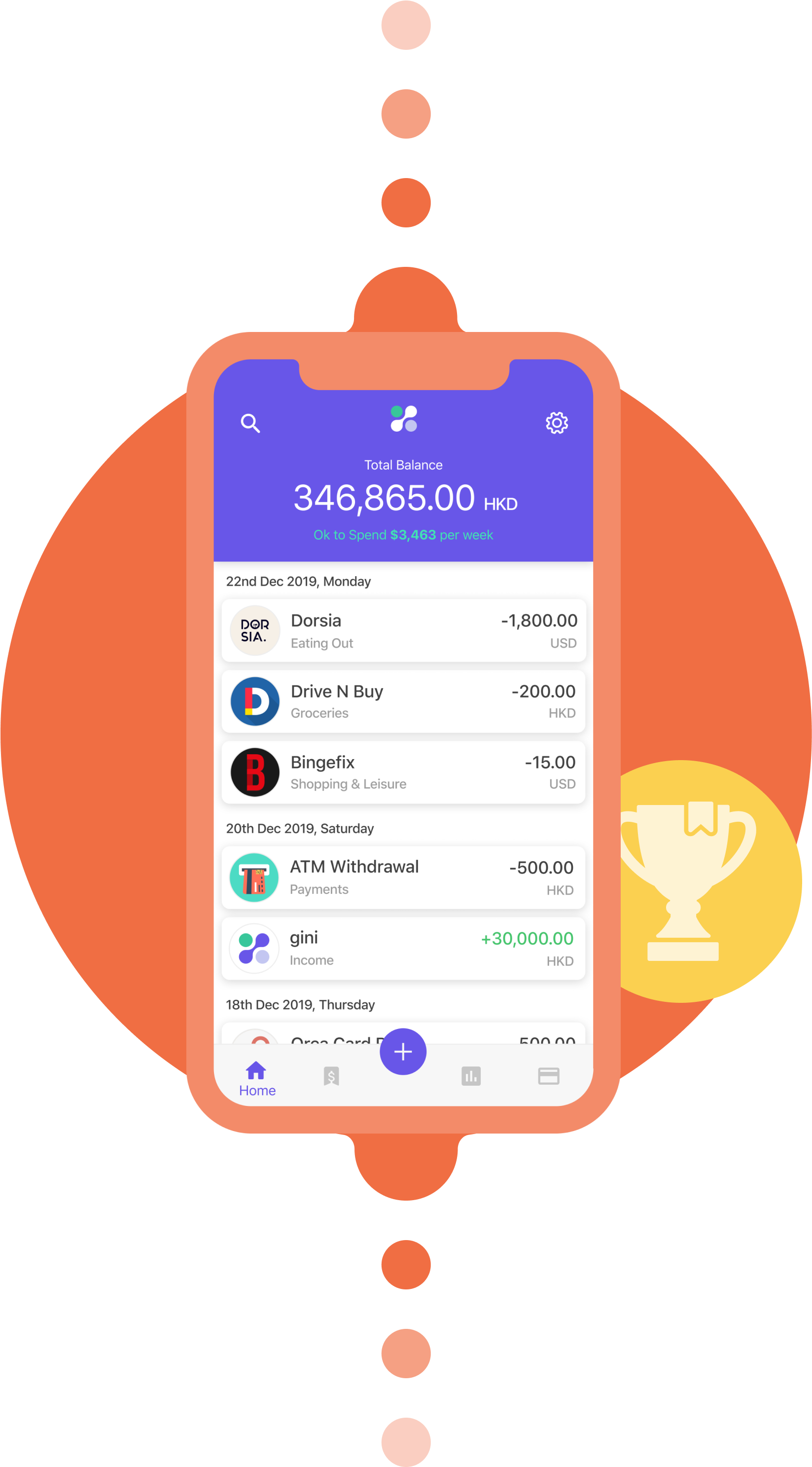 gini's award-winning personal finance app
