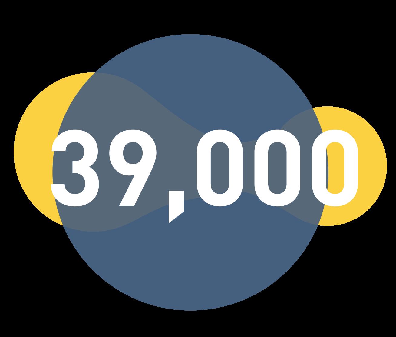 39,000 icon - gini