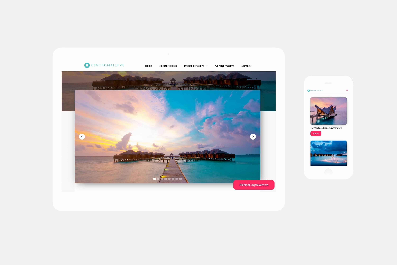 Realizzazione sito web Centromaldive