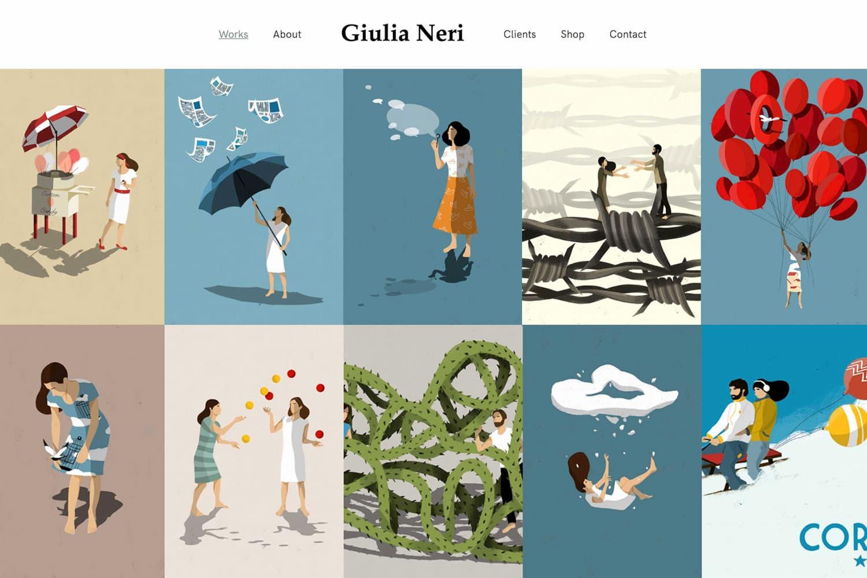 Realizzazione sito web Giulia Neri