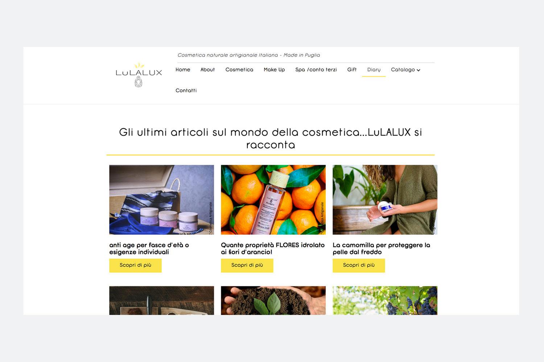 Realizzazione sito web Lulalux