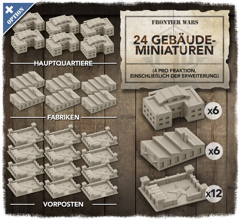 Frontier Wars - 3D Gebäude-Miniaturen