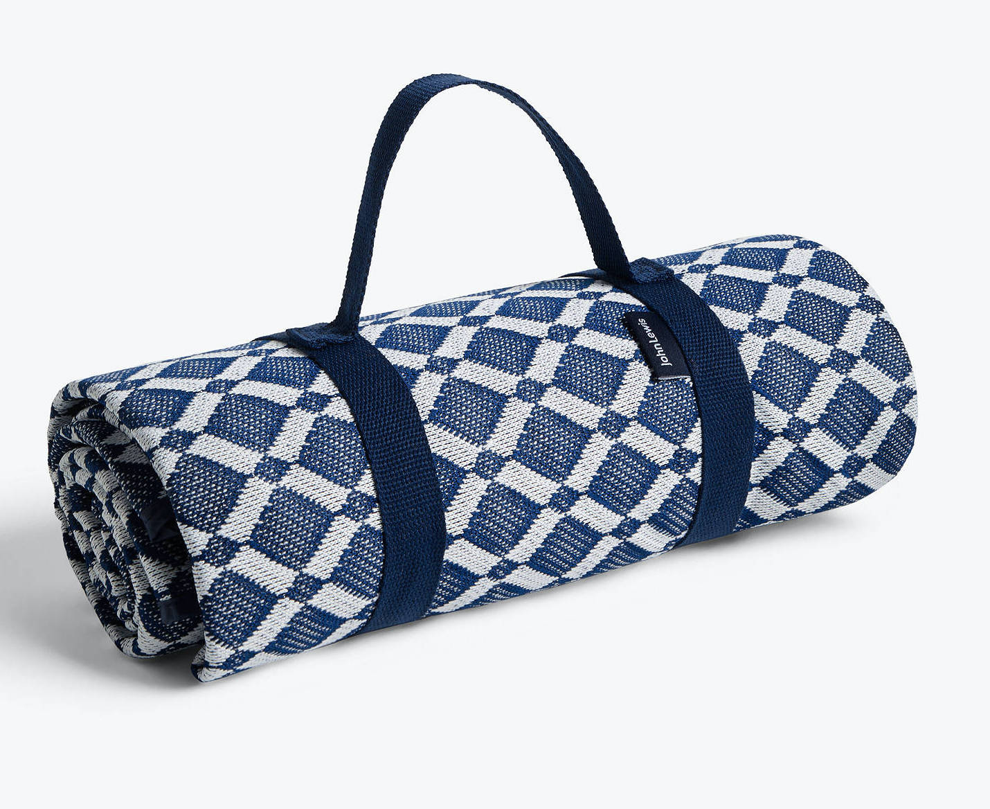 a blue and white picnic blanket to take camping
