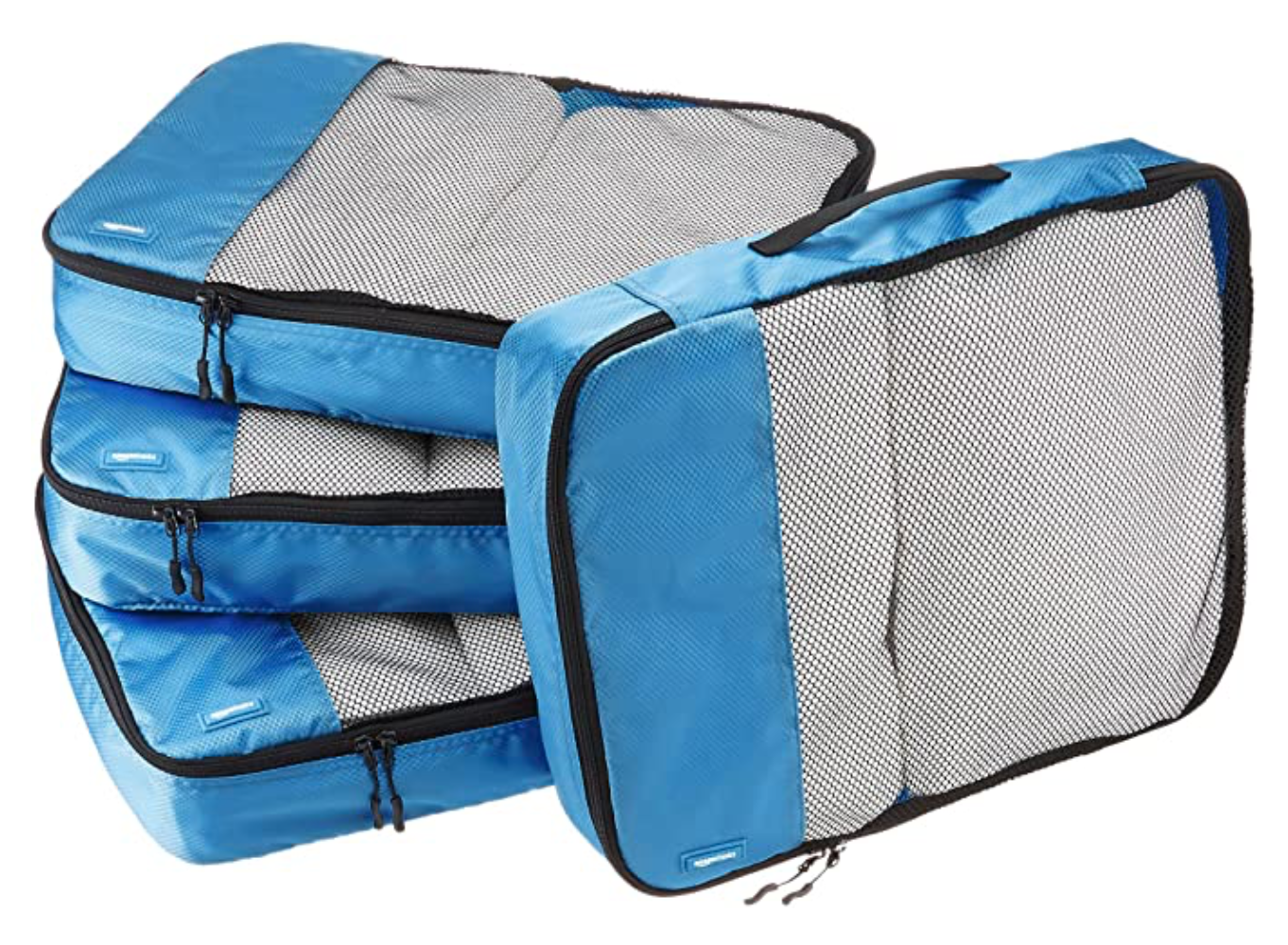 blue and grey zip bags