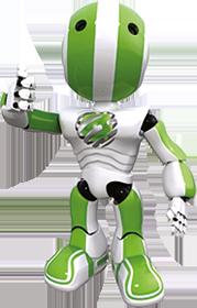 Greenlight Computer Repairs Robot Mascot