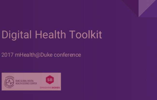 In order to help the learnings from the 2017 mHealth@Duke conference live on beyond April 12, the conference organizing committee collaborated with the speakers, sponsors, and demo companies to compile a list of resources to aid anyone pursuing digital health solutions with an emphasis on the Triangle (Durham, Chapel Hill, Raleigh).