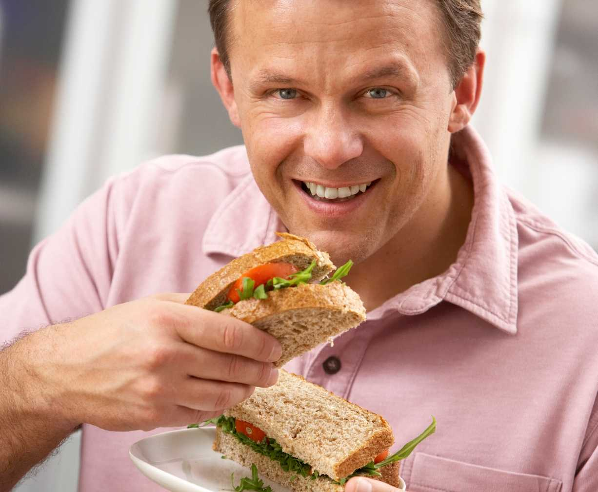 member-eating-sandwich