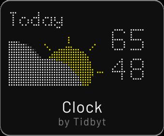 Tidbyt clock app