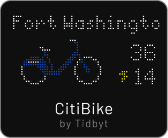 Tidbyt Citibike app