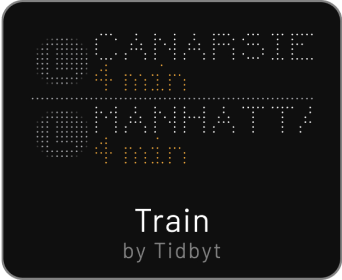 Tidbyt train app