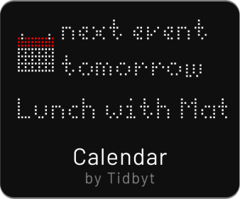 Tidbyt calendar app