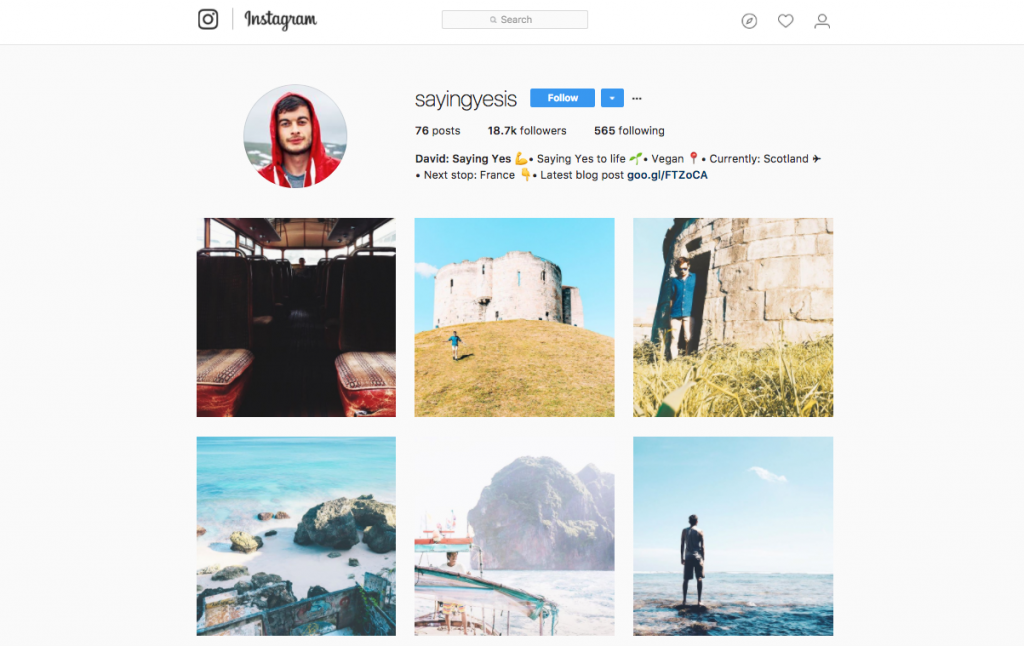 Using Instagram to Travel the World