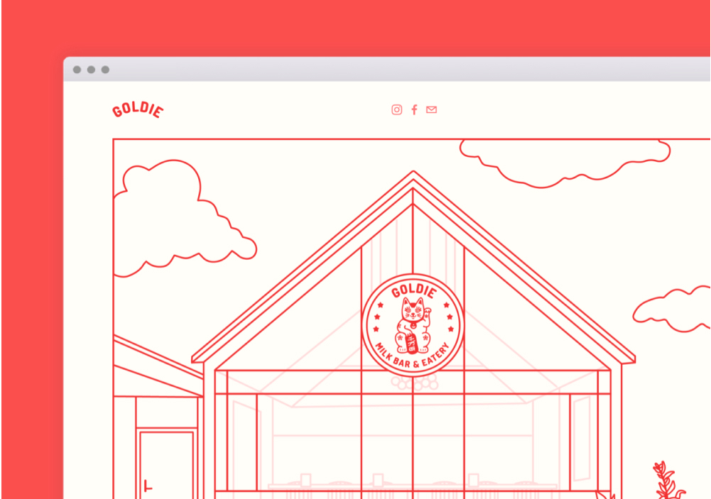 Goldie Website Screenshot
