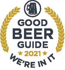 Good Beer Guide 2021 we're in it.